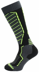 Ponožky Blizzard Profi Ski Socks black/antracit/signal yellow